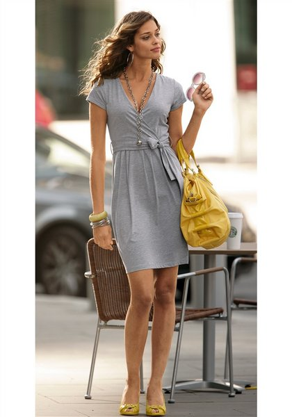 Фото платье из трикотажа летнее