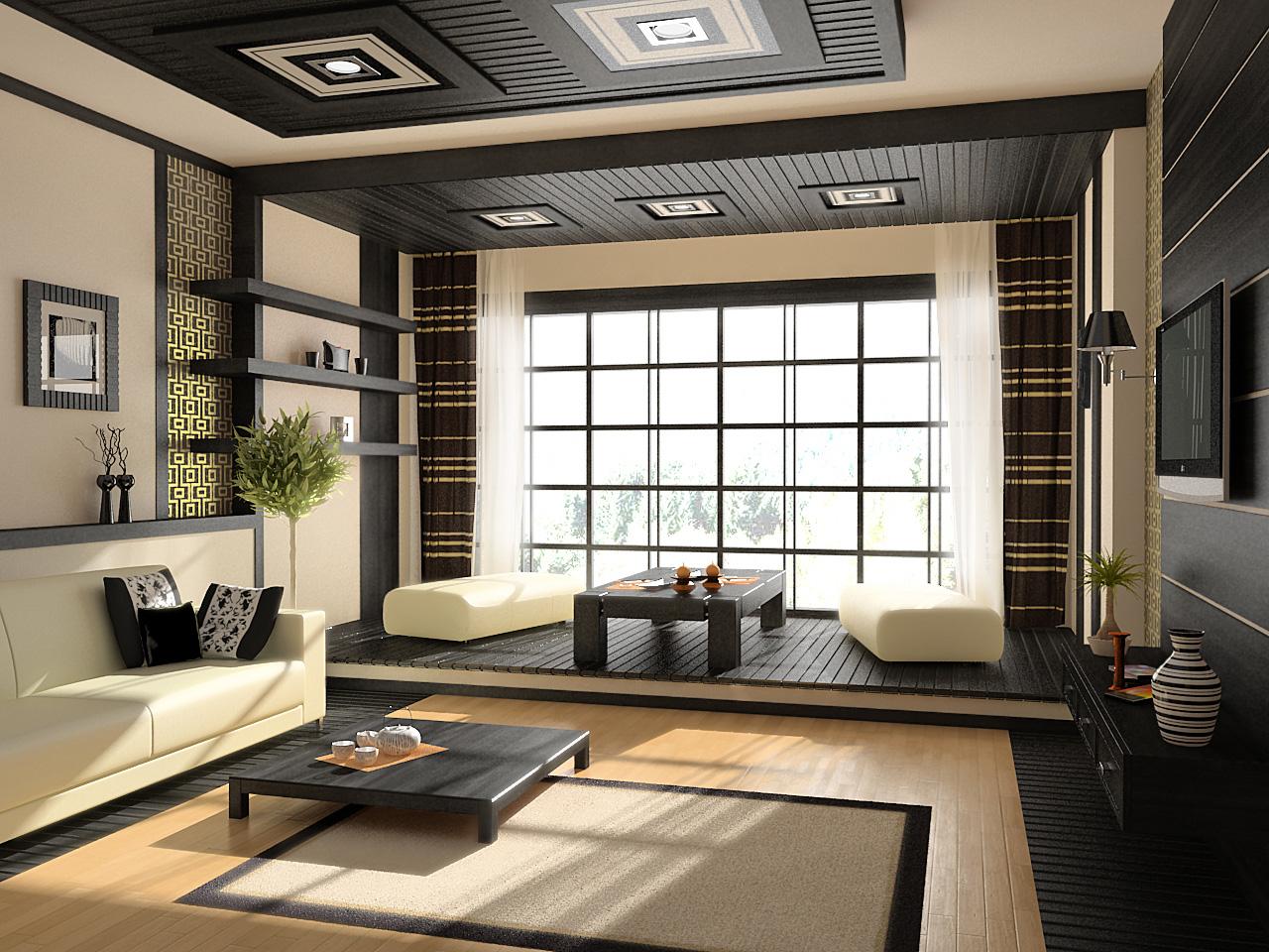 Идеальный интерьер гостиной комнаты