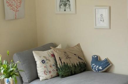 Как сделать своими руками диванную подушку