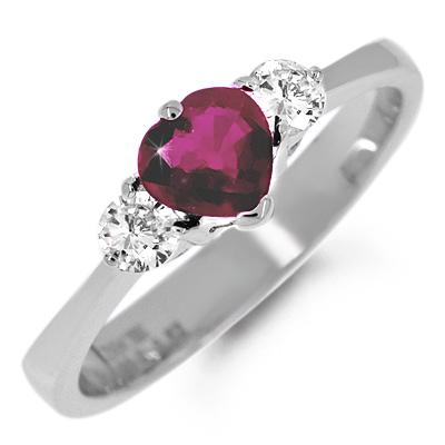 Кольцо с камнем лал