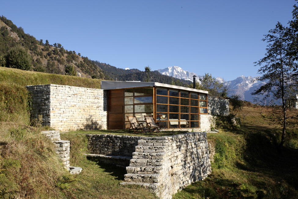 Luxury mountain hotel in the himalayas