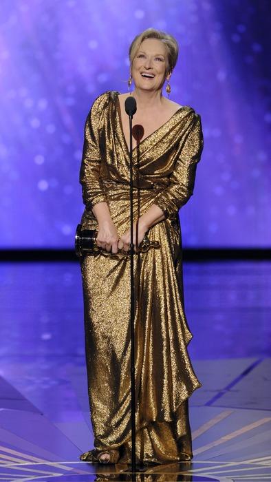 """Мерил Стрип на церемонии """"Оскар 2012"""" в номинации """"Лучшая женская роль"""""""