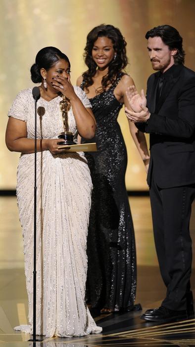 """Октавия Спенсер на церемонии """"Оскар-2012"""" в номинации """"Лучшая актриса второго плана"""""""
