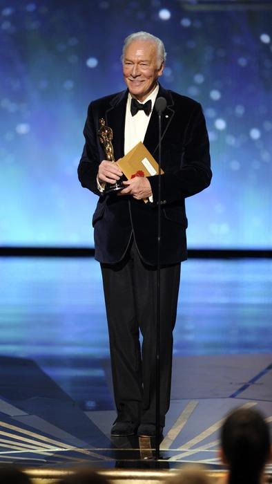 """Кристофер Пламмер на церемонии """"Оскар 2012"""" в номинации """"Лучший актер второго плана"""""""