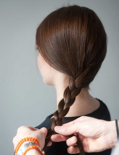 прическа пышная коса