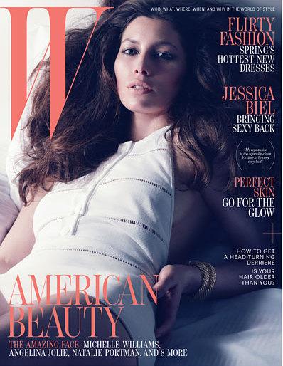Джессика Бил в апрельском номере M Magazine