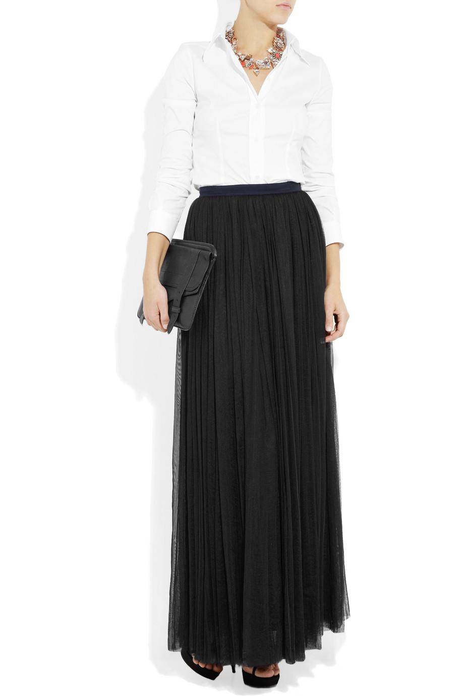 Черная гофрированная юбка