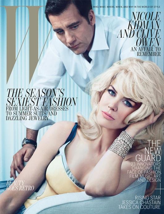 Николь Кидман и Клайв Оуэмен на обложке журнала W Magazine