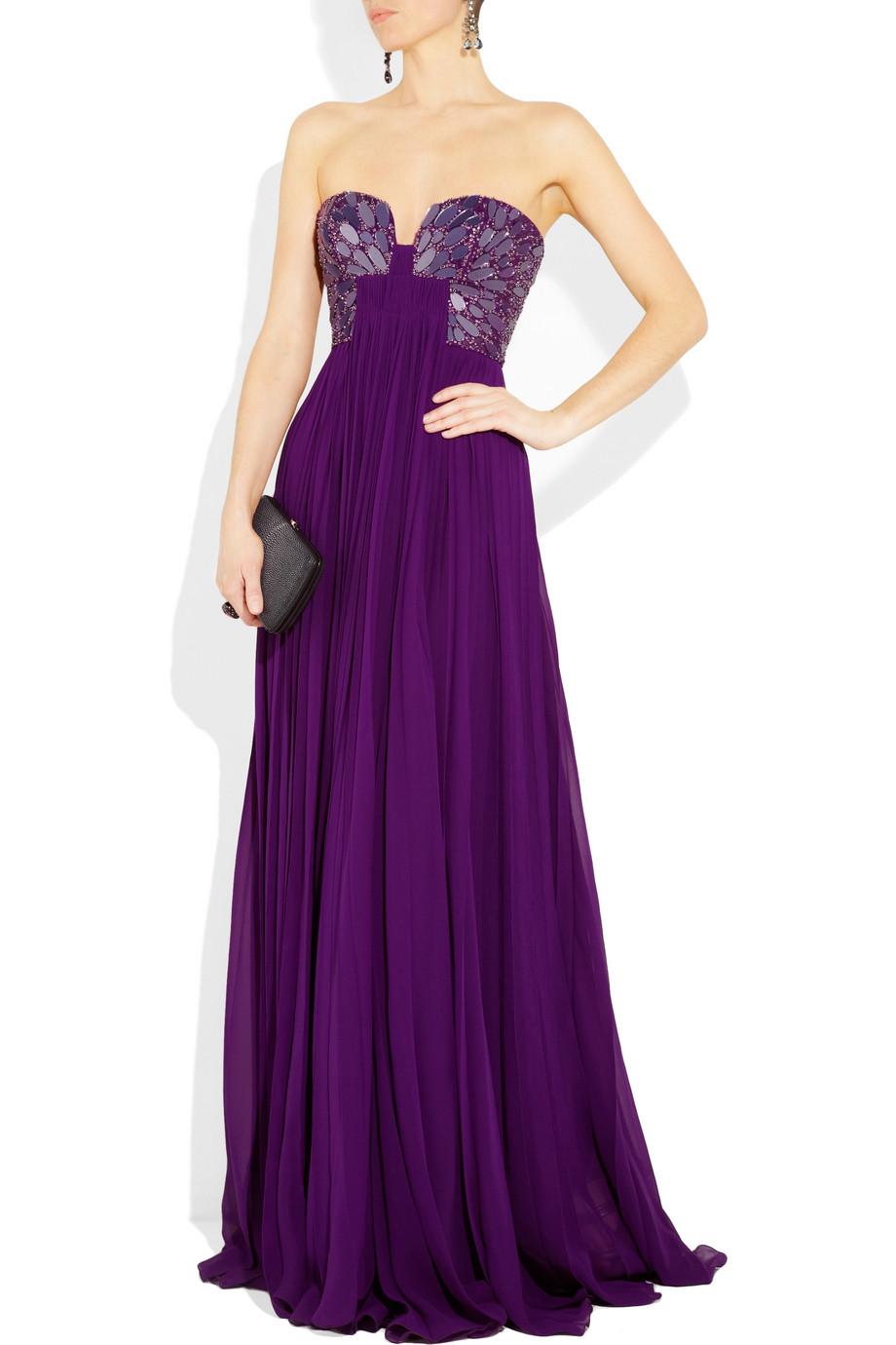 ea4f14954f6a70b Фиолетовое длинное платье на выпускной - Модадром