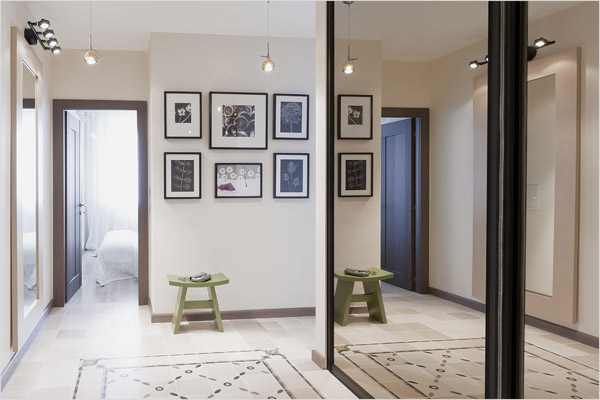 Дизайн светлой квартиры в Москве площадью 60 кв.м.