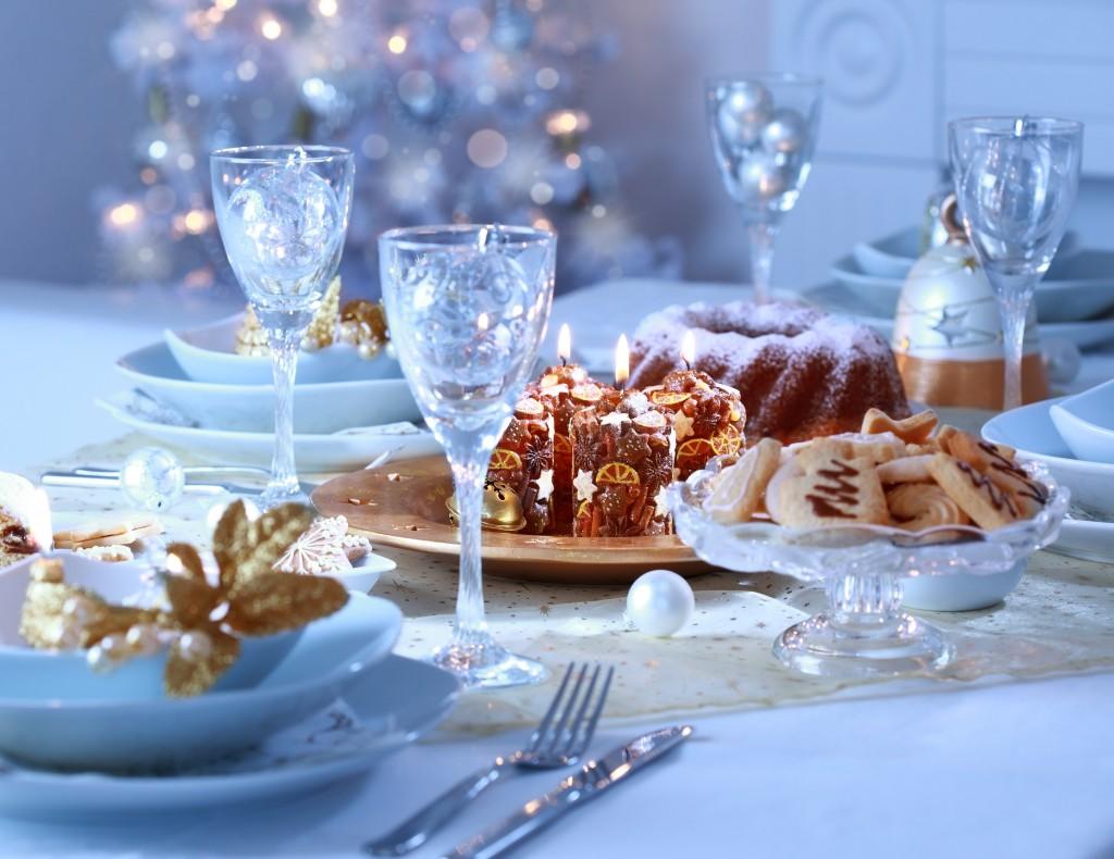 Оформление новогоднего стола в год Козы